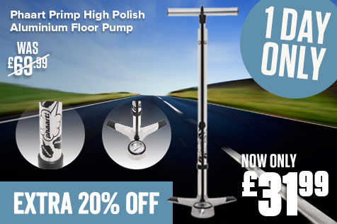 Phaart Primp High Polish Aluminium Floor Pump